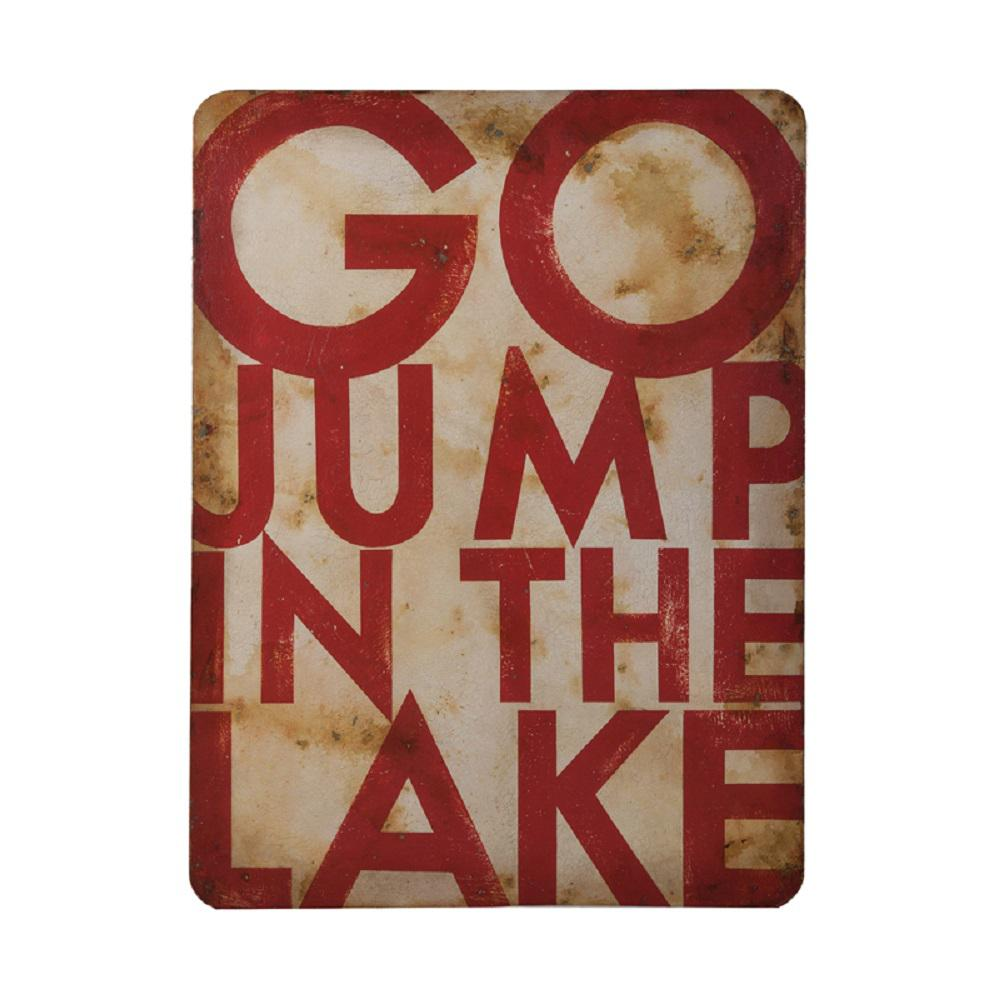 "Lake Wall Art guildmaster 48 in. x 36 in. ""go jump in the lake"" hand painted"