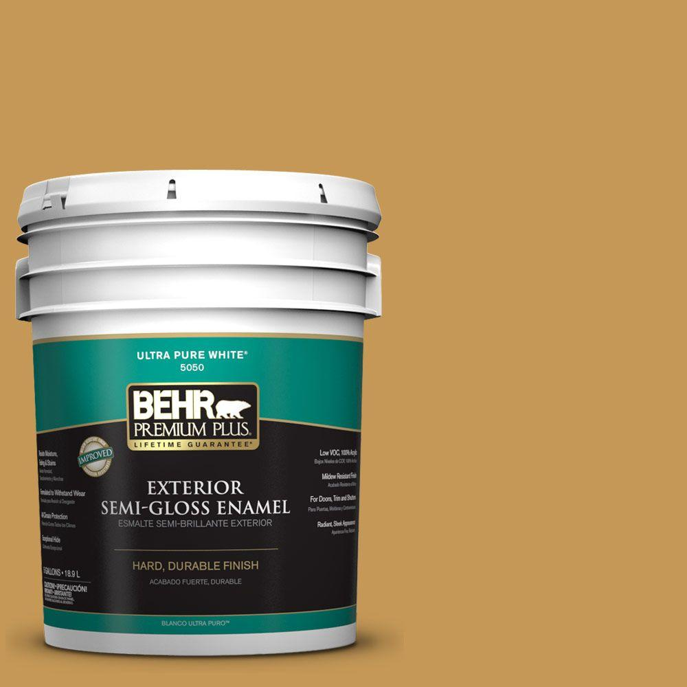 5-gal. #PMD-104 Amber Glass Semi-Gloss Enamel Exterior Paint
