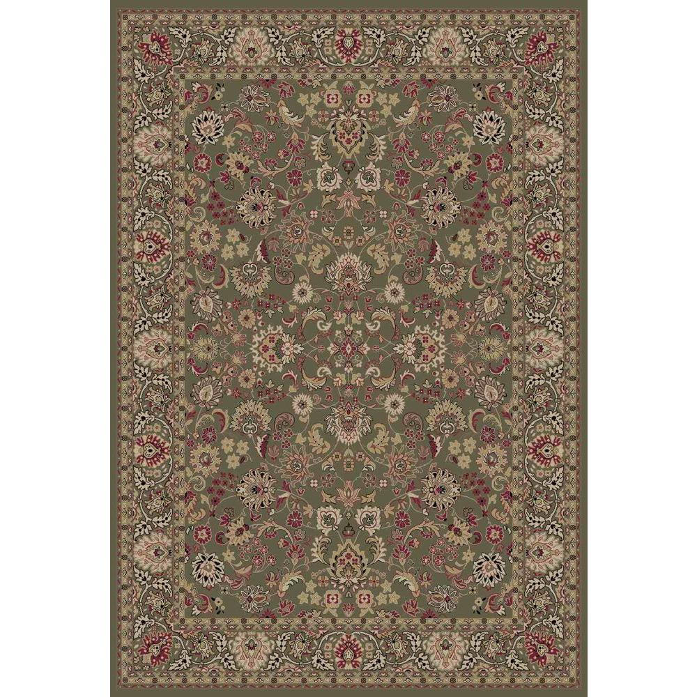 Persian Classics Mahal Green 3 ft. 11 in. x 5 ft.