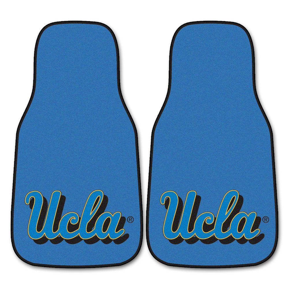 FANMATS UCLA 18 in. x 27 in. 2-Piece Carpeted Car Mat Set