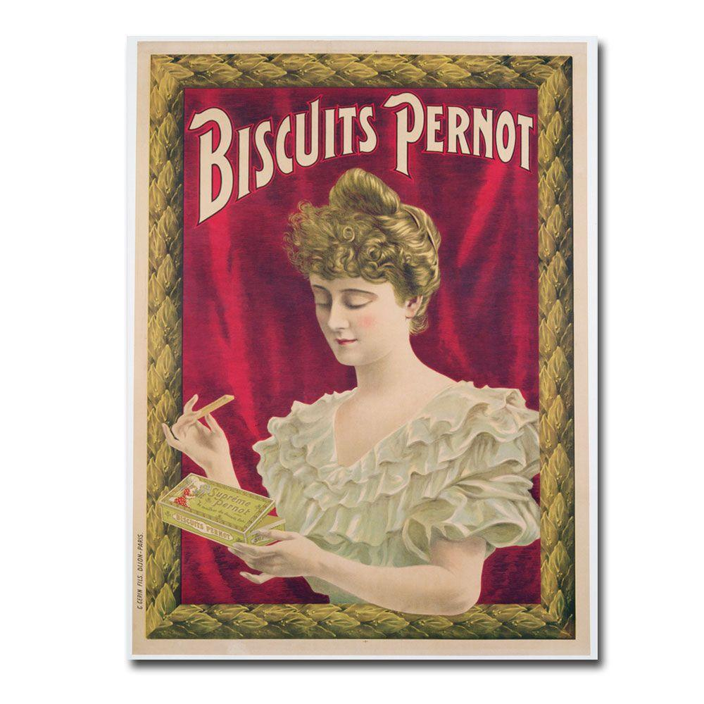 24 in. x 32 in. Pernot Biscuits 1902 Canvas Art