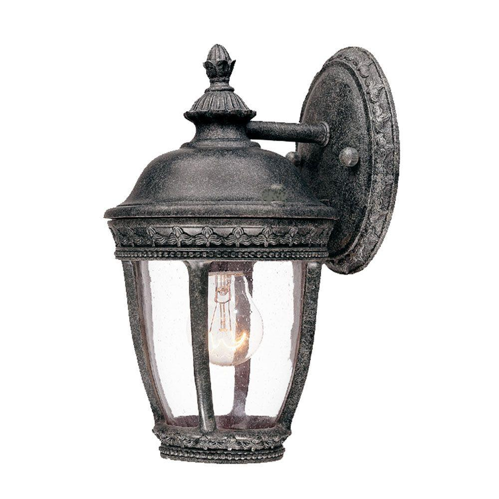 Acclaim Lighting Fleur de Lis Collection Wall-Mount 1-Light Outdoor Stone Light Fixture-DISCONTINUED