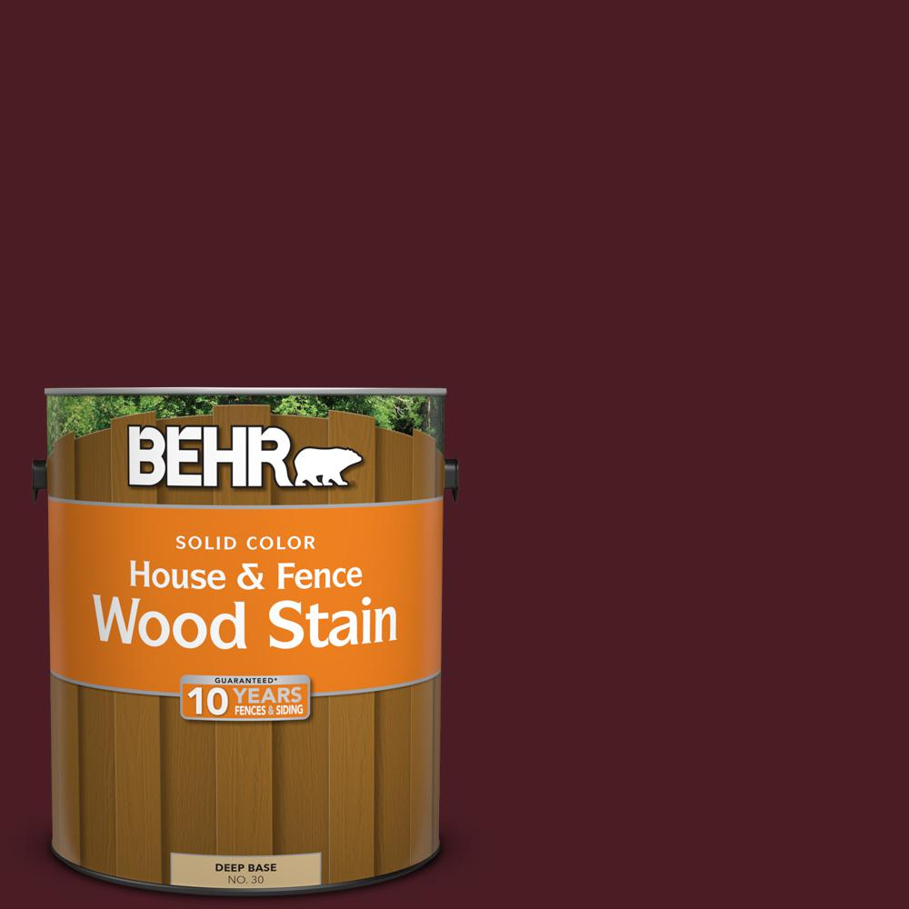 BEHR 1 gal. #SC-106 Bordeaux Solid Color House and Fence Wood Stain