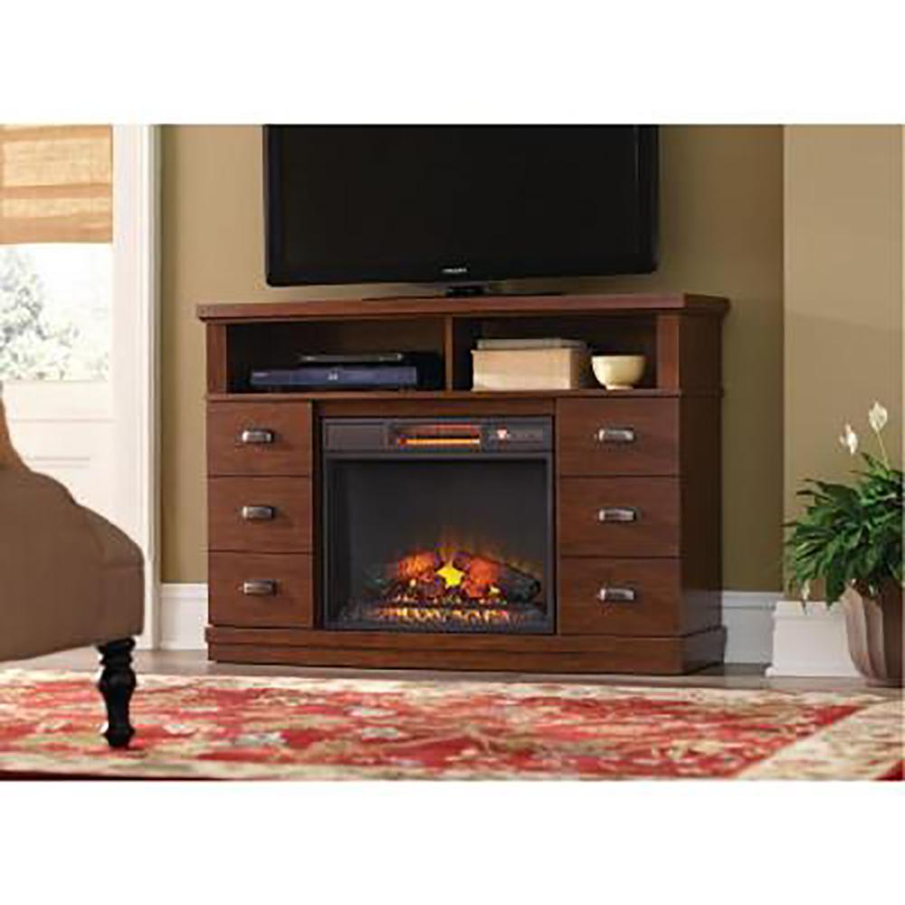 Home Decorators Collection Canton Park 48 In Corner Media Console Electric Fireplace In Simply