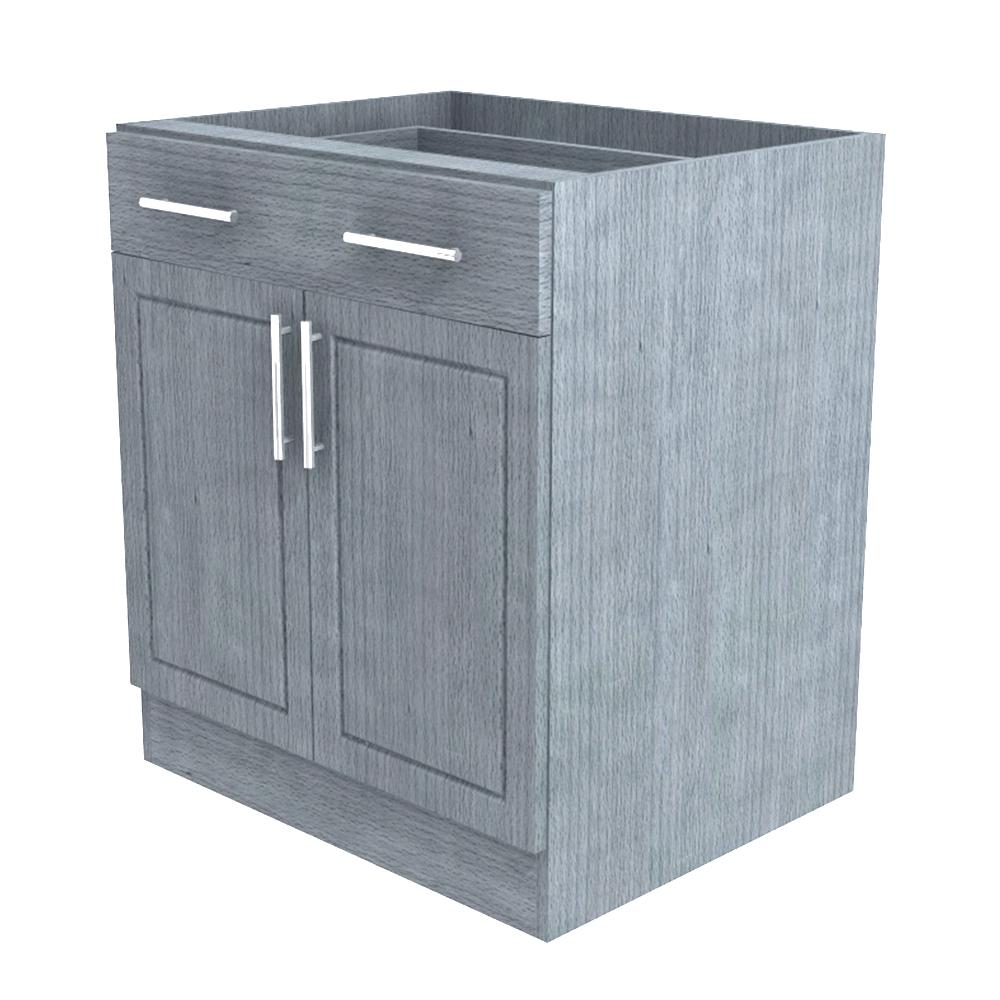 Outdoor Kitchen Cabinet Doors Weatherstrong Assembled 30x345x24 In Palm Beach Island Outdoor