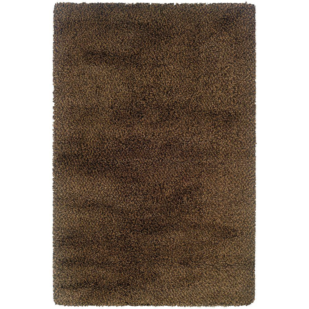 Urban Loft Brown Gold 5 ft. 3 in. x 7 ft. 9 in. Area Rug