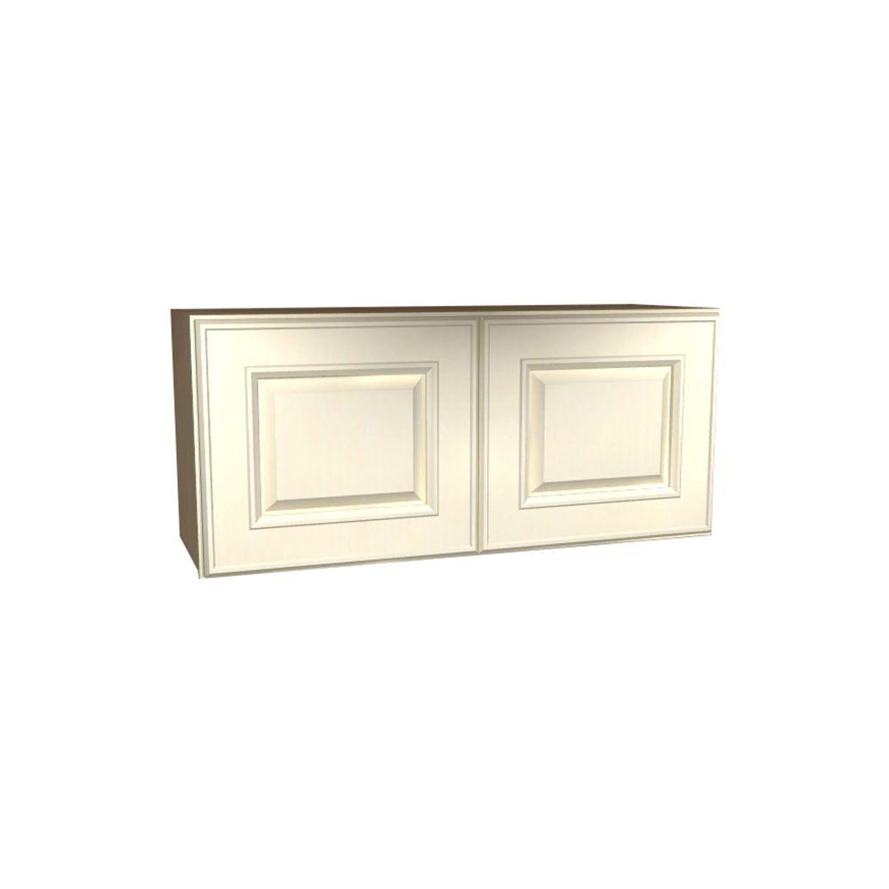 Assembled 33x15x12 in. Holden Wall Double Door Cabinet in Bronze Glaze