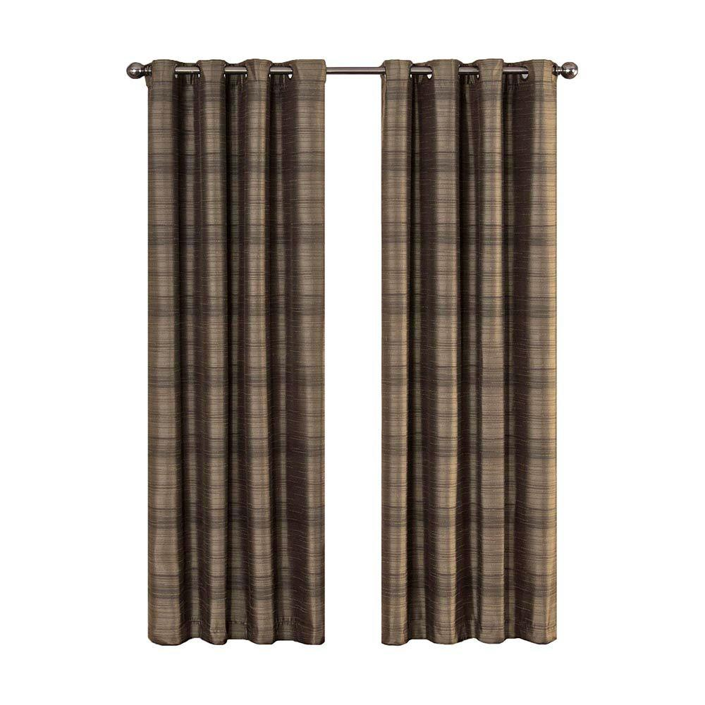 Eclipse Bellagio Blackout Espresso Curtain Panel, 63 in. Length