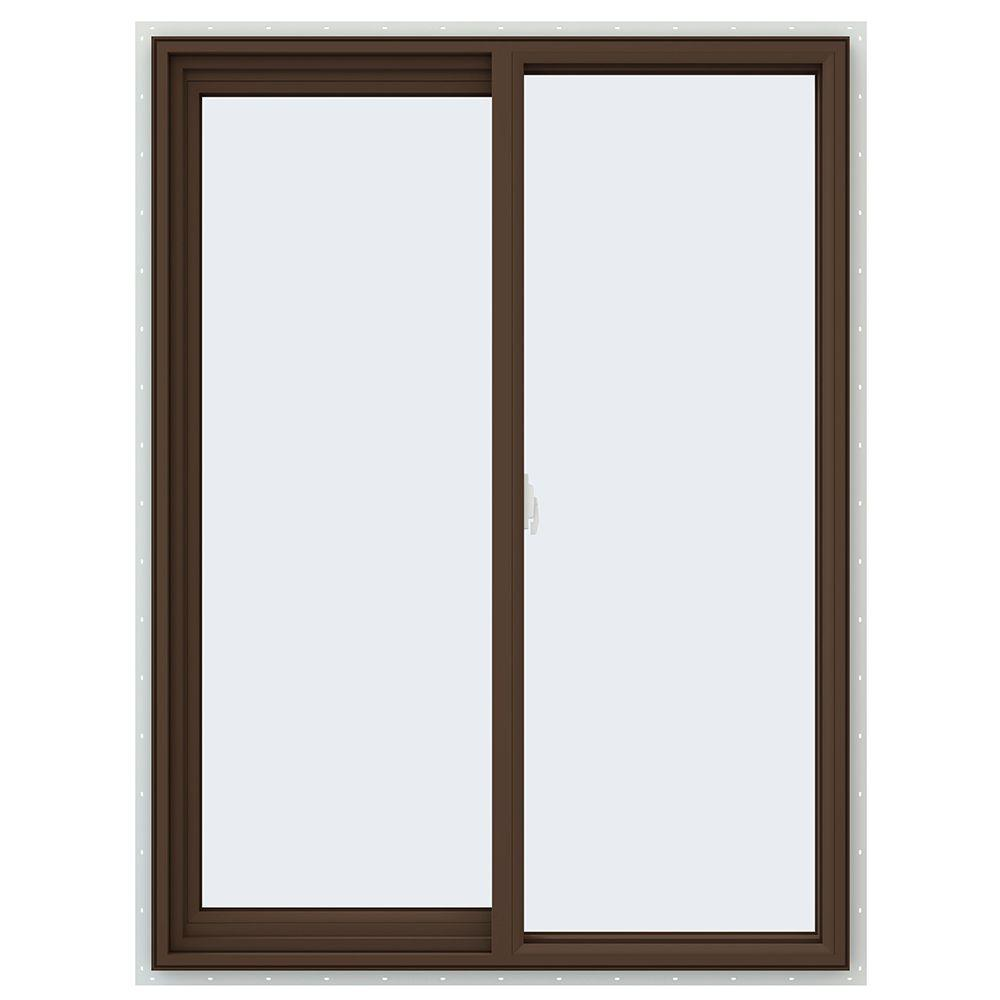 35.5 in. x 47.5 in. V-2500 Series Left-Hand Sliding Vinyl Window