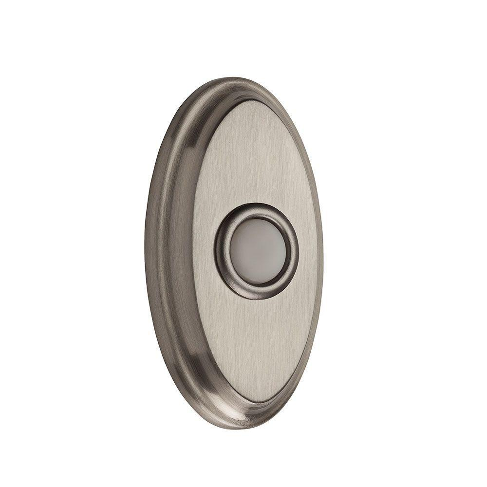 Wired Oval Bell Button - Satin Nickel