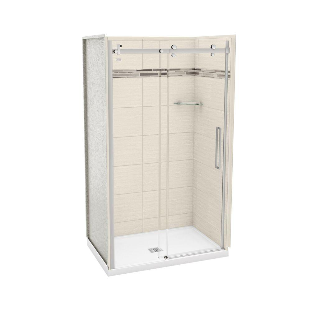 32 In X 48 In X 77 In 3 Piece Shower Stall In Chrome