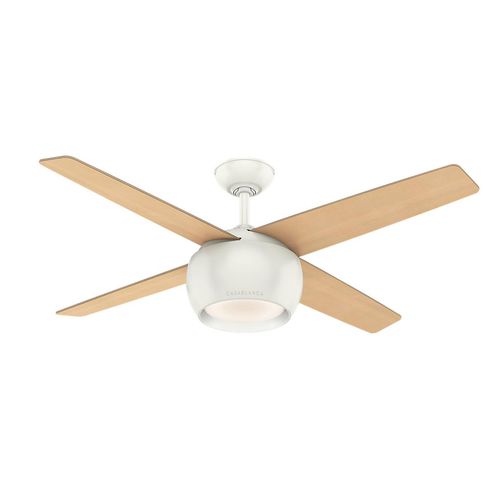Valby 54 in. LED Indoor Fresh White Ceiling Fan