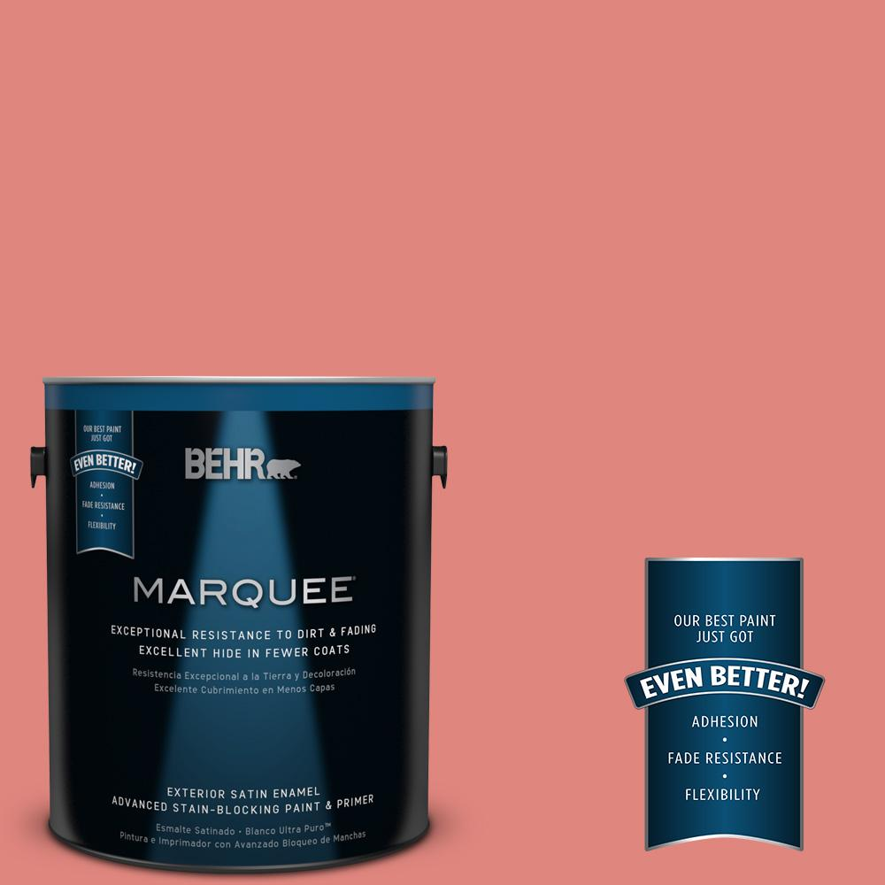 BEHR MARQUEE 1-gal. #170D-5 Mellow Coral Satin Enamel Exterior Paint