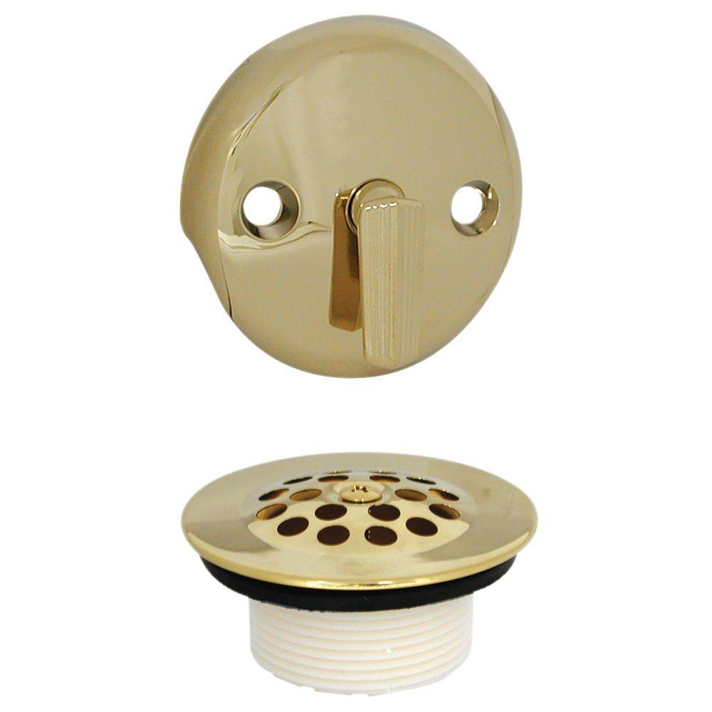 DANCO Trip Lever Tub Drain and Overflow Trim Kit in Polished Brass