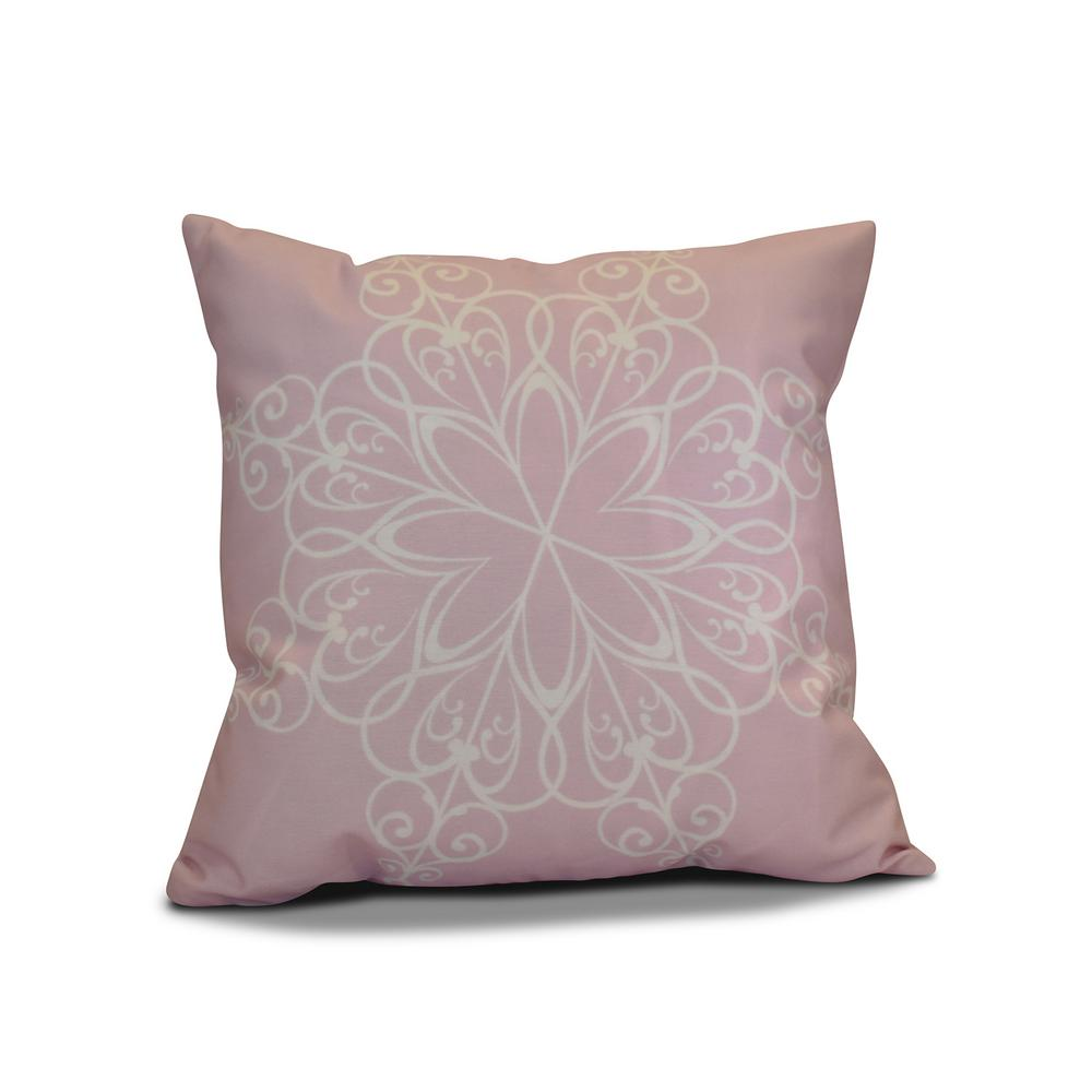 16 in. Snowflake Holiday Pillow in Pink-PHGN681PK4-16 - The Home Depot
