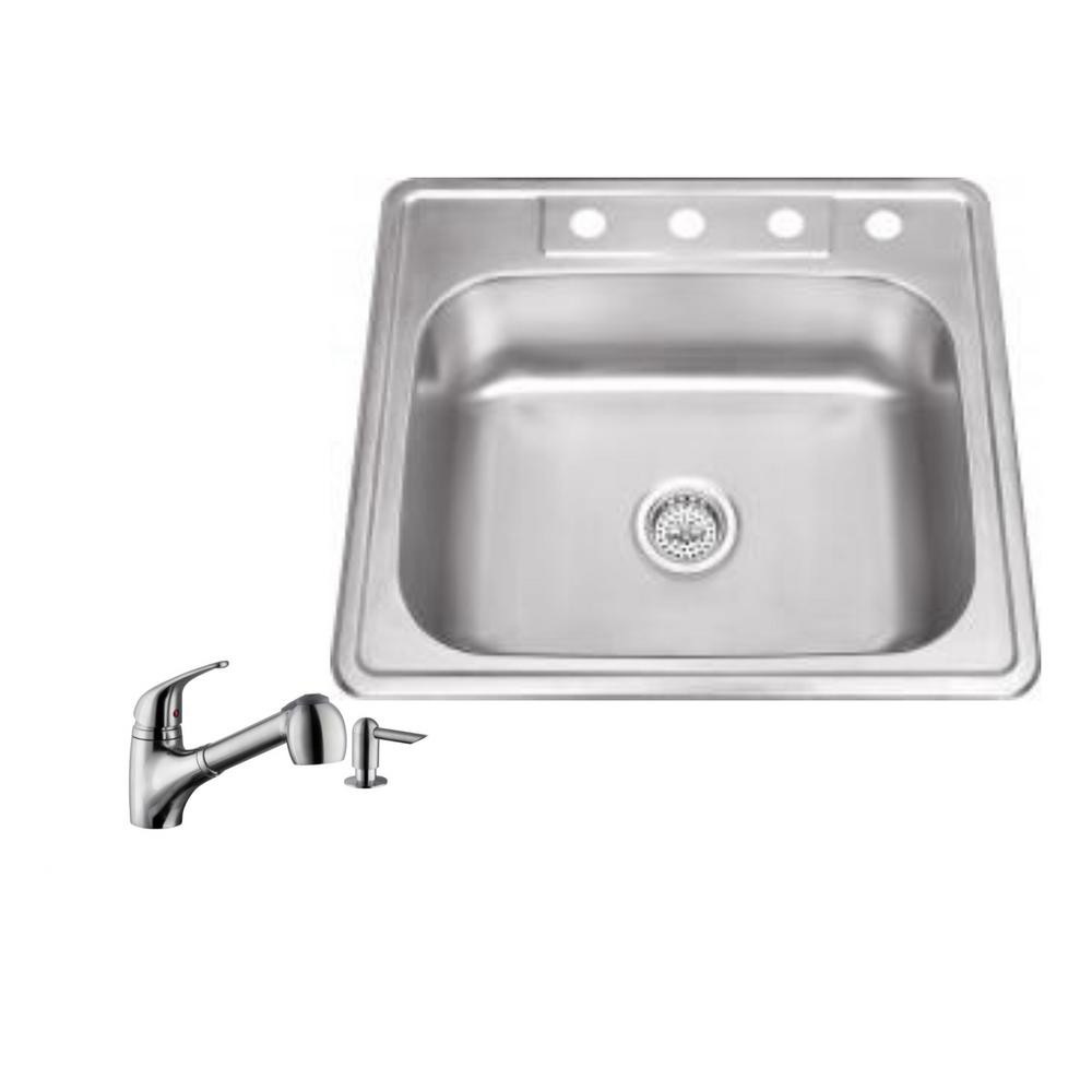ipt sink company drop in 25 in 4 hole stainless steel kitchen 4 hole stainless steel kitchen sink in brushed stainless