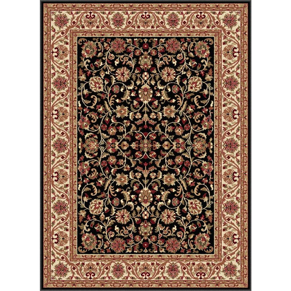 Tayse Rugs Sensation Black 5 ft. 3 in. x 7 ft. 3 in. Transitional Area Rug