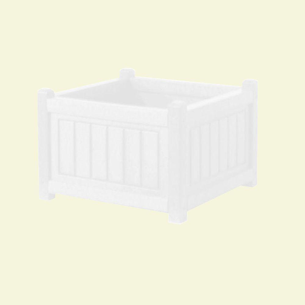 Eagle One Catalina 17 in. x 17 in. White Recycled Plastic Commercial Grade Planter Box