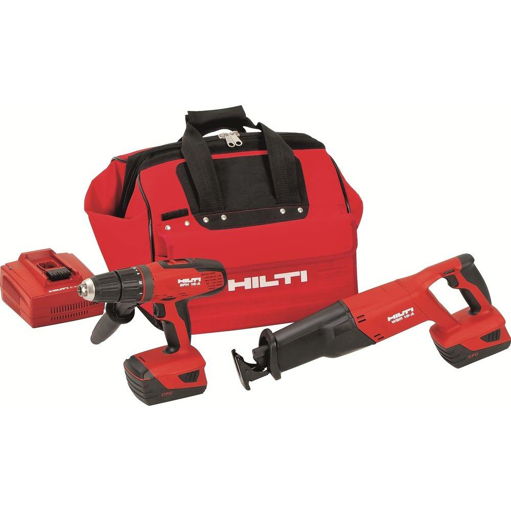 Hilti 18-Volt Lithium-Ion Cordless Hammer Drill Driver/Reciprocating Saw Combo