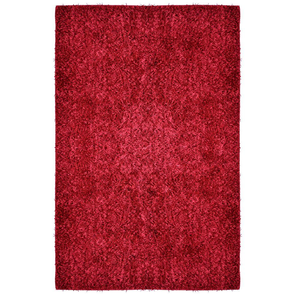 City Sheen Red Polyester 8 ft. x 10 ft. Area Rug