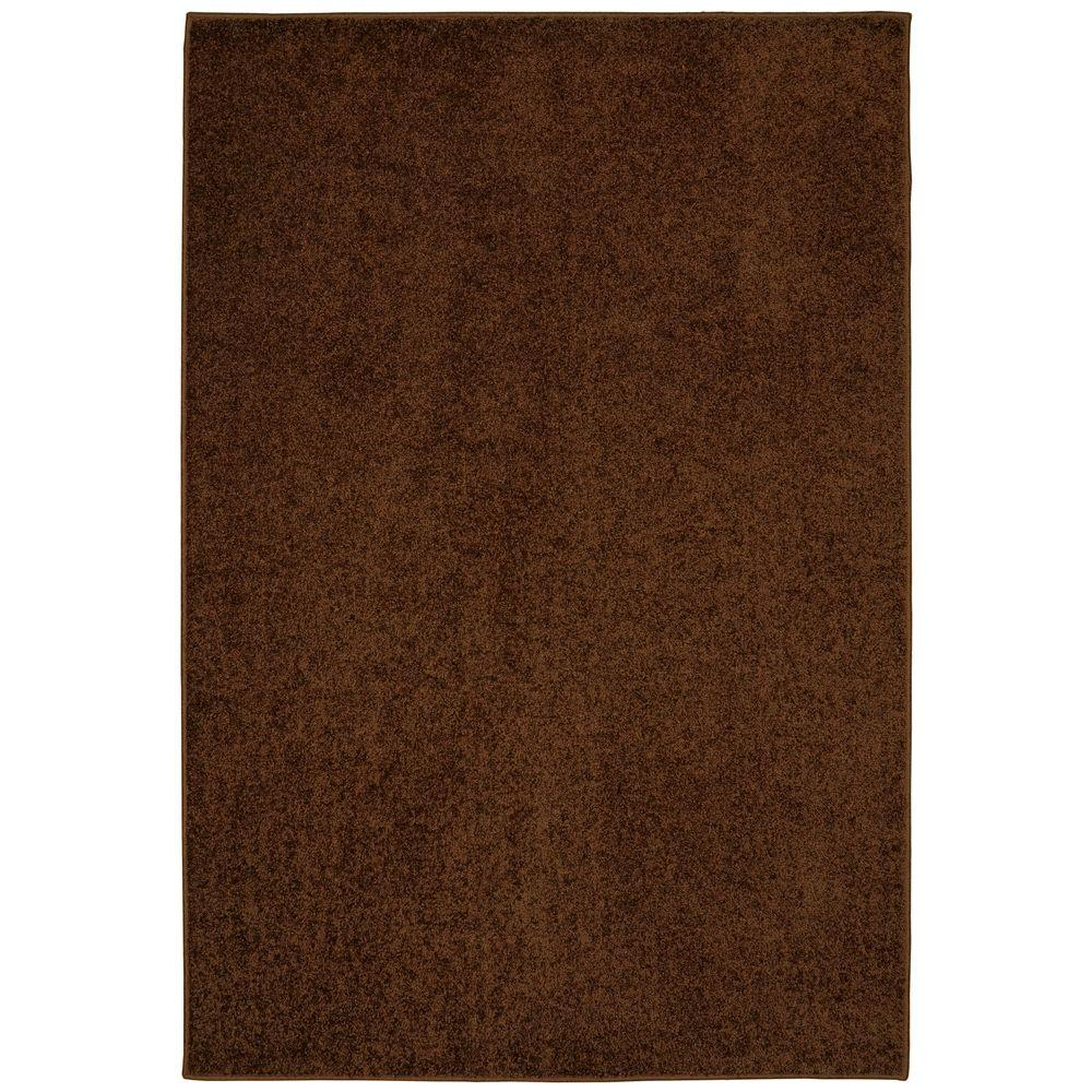 Value Plush Coffee Bean 5 ft. x 7 ft. Area Rug
