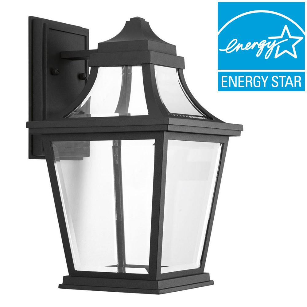 Endorse Collection 1-Light Black LED Wall Lantern