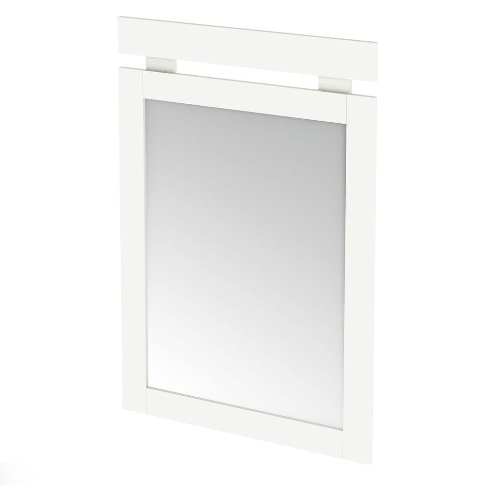 South Shore 43 in. x 29 in. Spectra Pure White Framed Mirror-DISCONTINUED