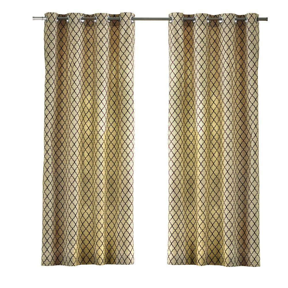 Home Decorators Collection Cream Ogee Grommet Curtain