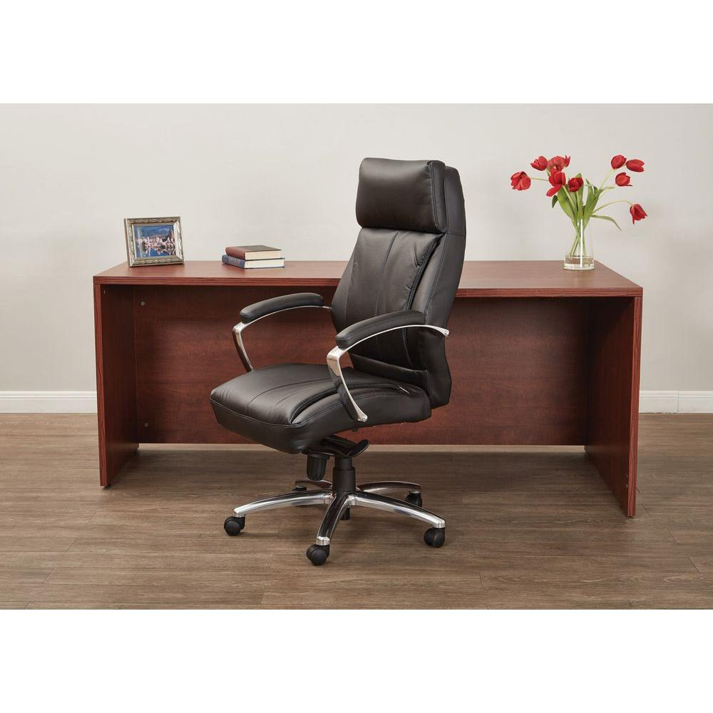 Pro-Line II Bonded Leather Executive Office Chair in Black-60310 - The