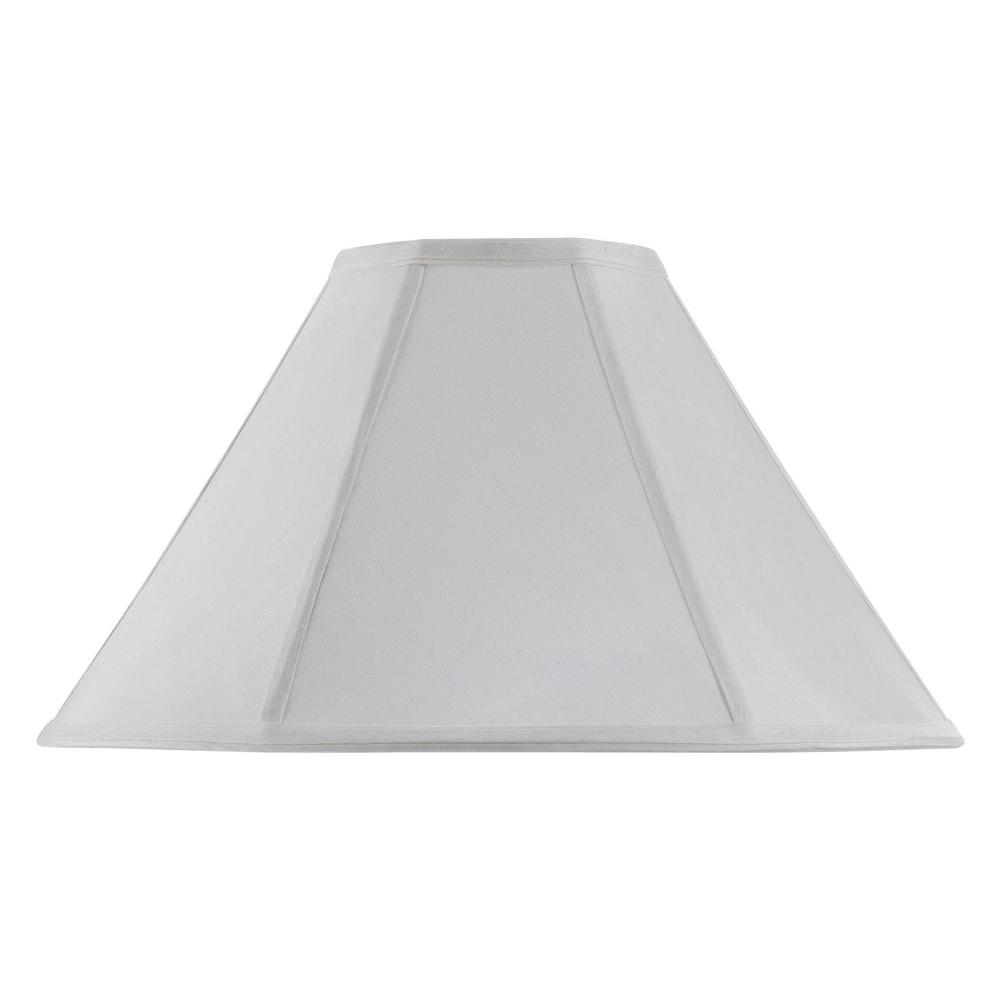12 in.White Fabric Vertical Piped Basic Coolie Shade
