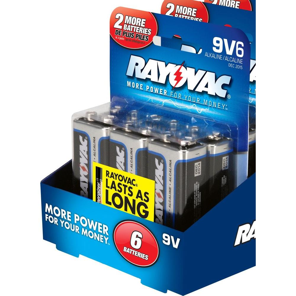 Rayovac Alkaline 9-Volt Batteries (6-Pack)-DISCONTINUED