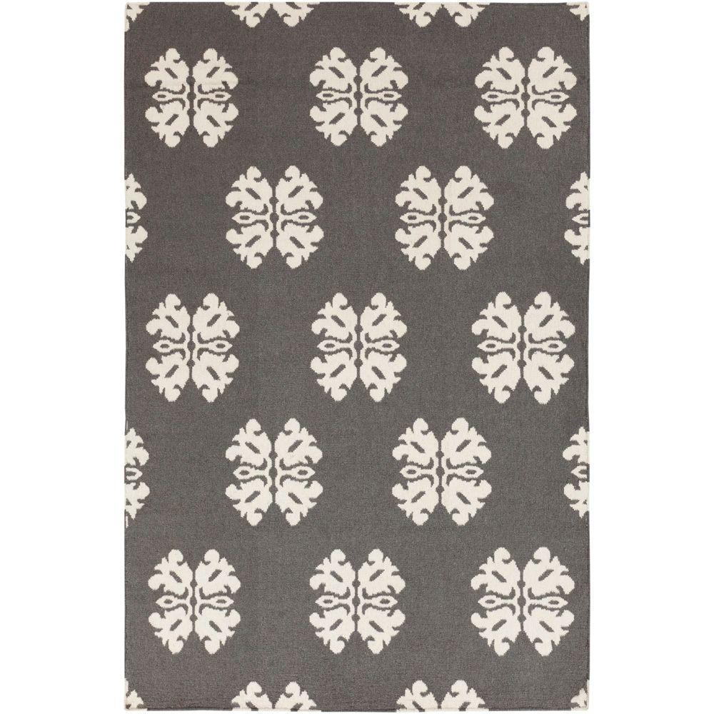 Modern Indoor/Outdoor Area Rug: Artistic Weavers Rugs Ospino2 Pewter 3 ft. 6 in. x 5 ft. 6 in. Flatweave Ospino2-3656