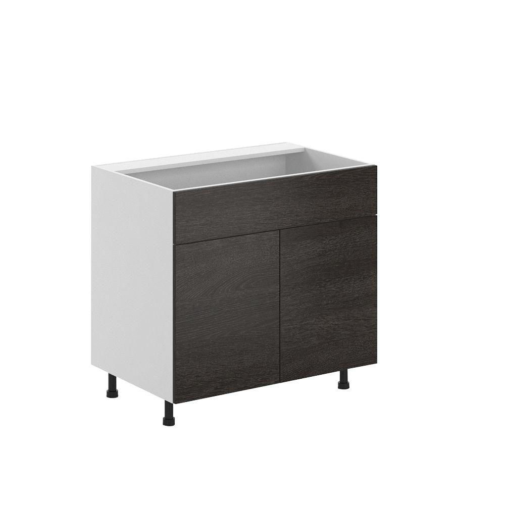 Eurostyle 36x34.5x24.5 in. Leeds Sink Base Cabinet with False Drawer Front