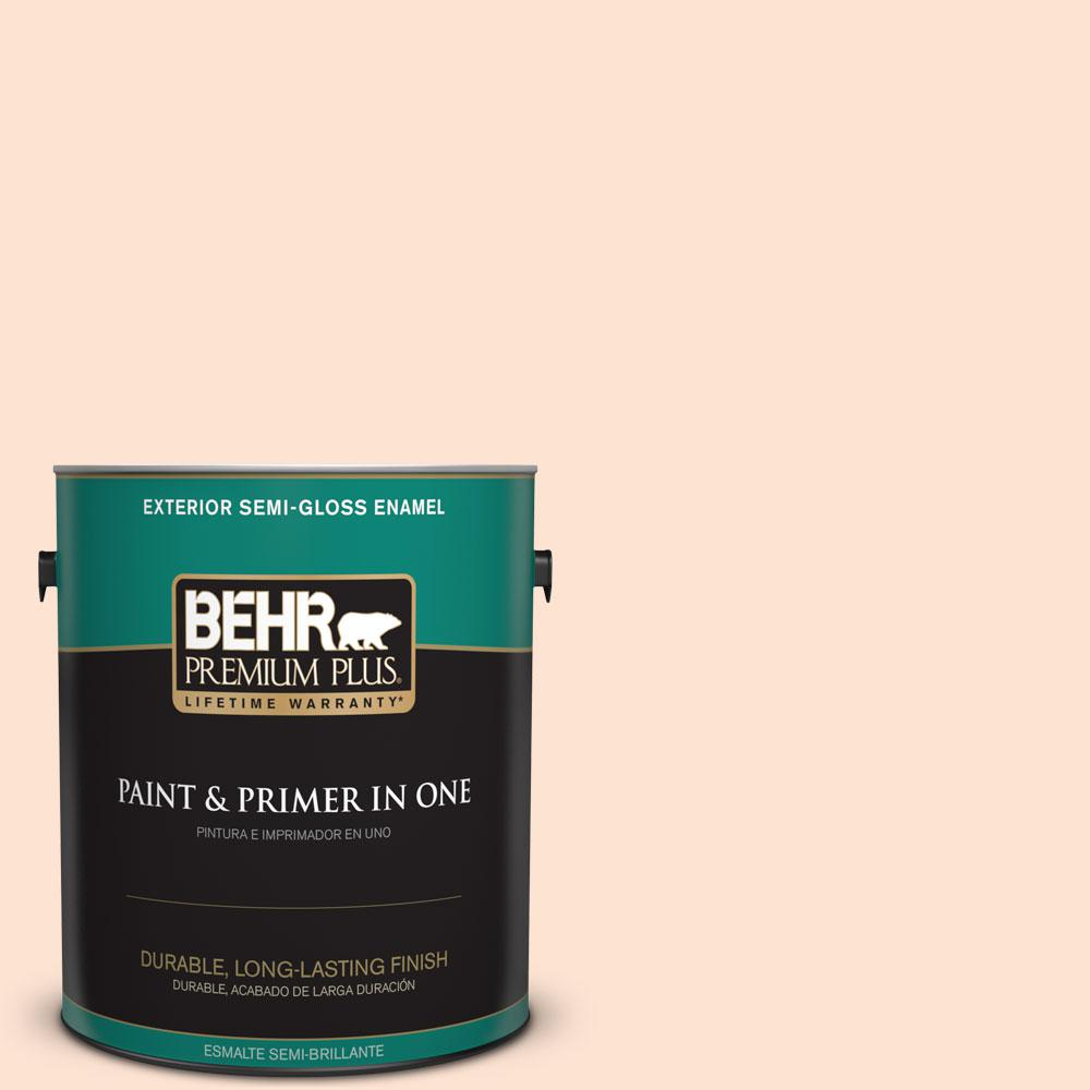 1-gal. #280C-1 Champagne Ice Semi-Gloss Enamel Exterior Paint