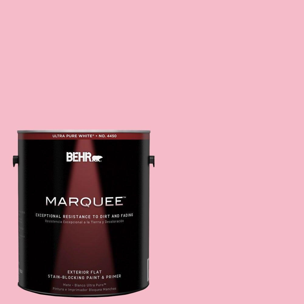 BEHR MARQUEE 1-gal. #120C-2 Pink Punch Flat Exterior Paint-445401 - The