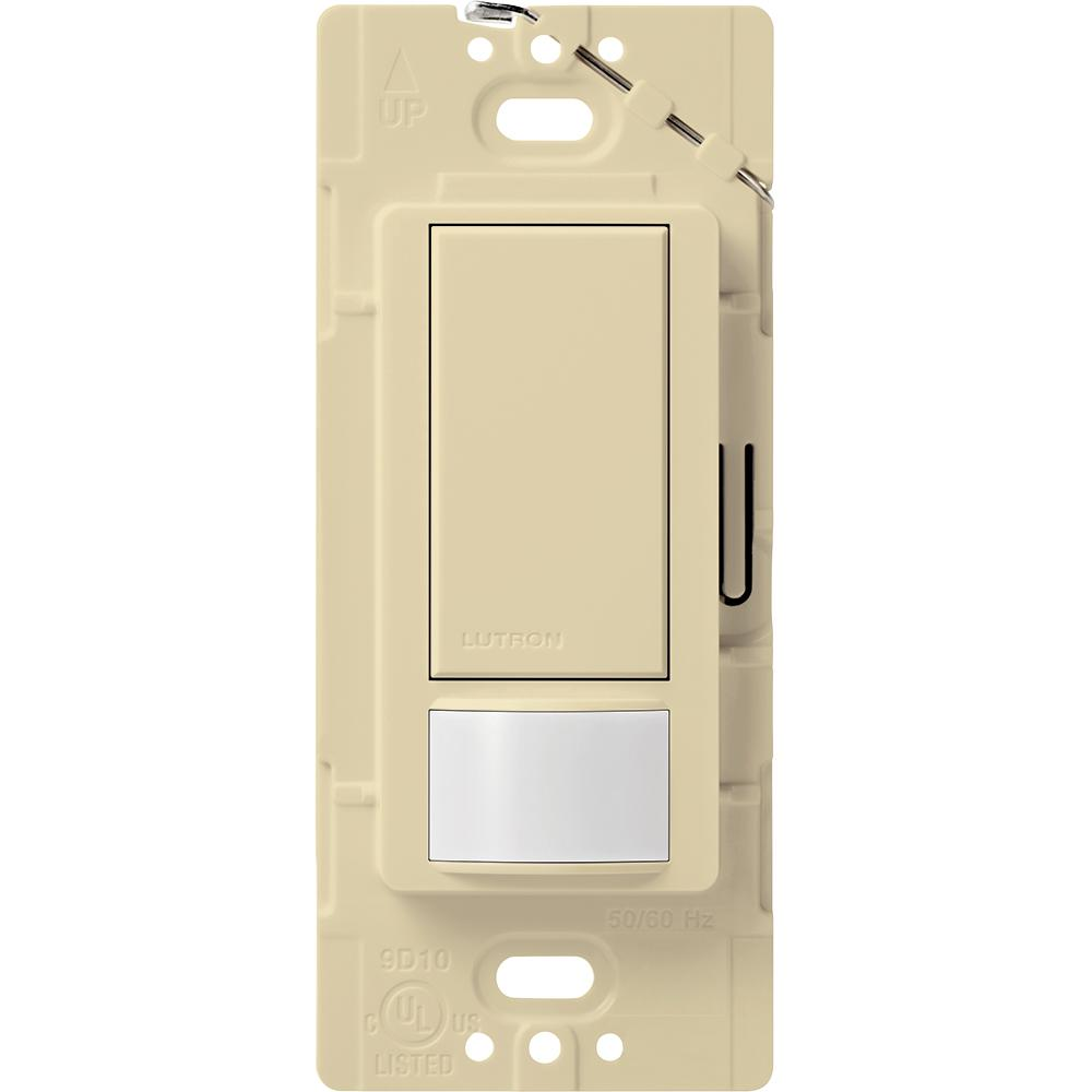 Lutron Maestro 2 Amp Single Pole Occupancy Sensing Switch, Ivory