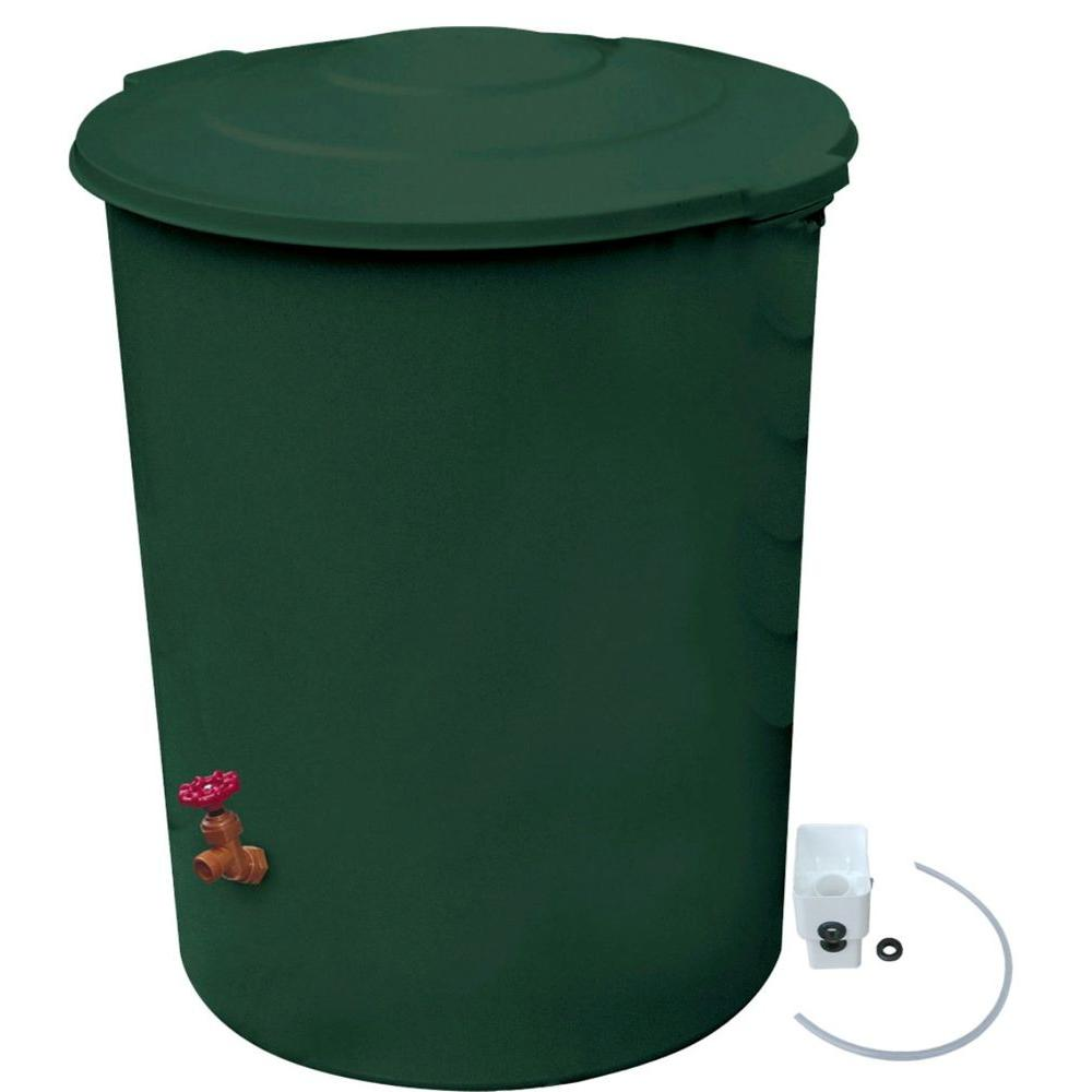 RESCUE 60 gal. Deluxe Rain Barrel with Diverter Kit