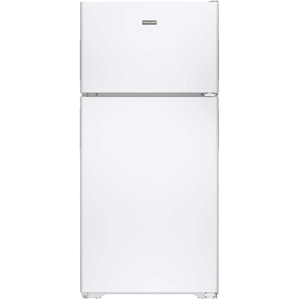 refrigerator 7 5 cu ft. hotpoint 14.6 cu. ft. top freezer refrigerator in white 7 5 cu ft