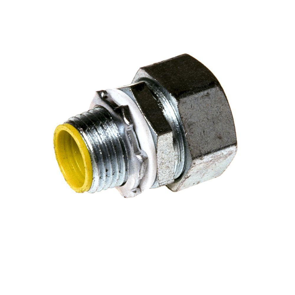 Conduit Fittings: Raco Electrical Supplies 4 in. Liquidtight Conduit Insulated Malleable Iron Straight Connector 3526