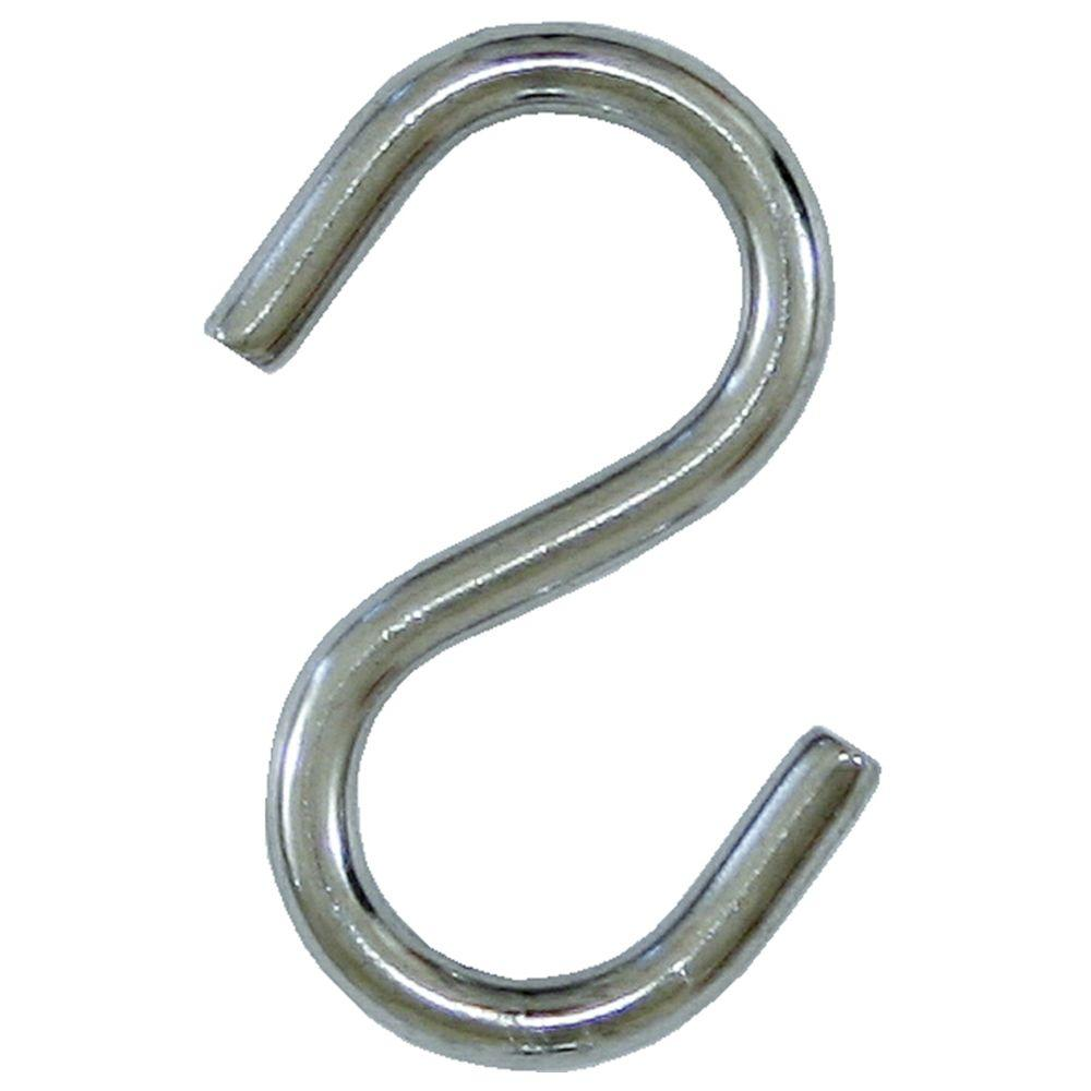 20 lb. x 2-1/2 in. x 5/16 in. Stainless Steel S-Hook