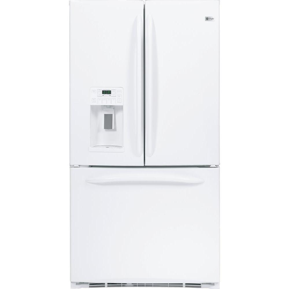 GE Profile 25.1 cu. ft. French Door Refrigerator in White