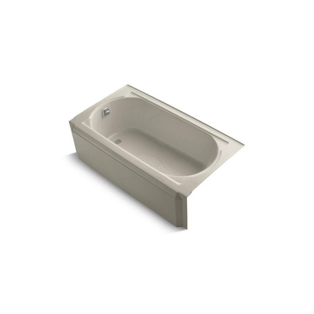 KOHLER Memoirs 5 ft. Left Drain Soaking Tub in Sandbar