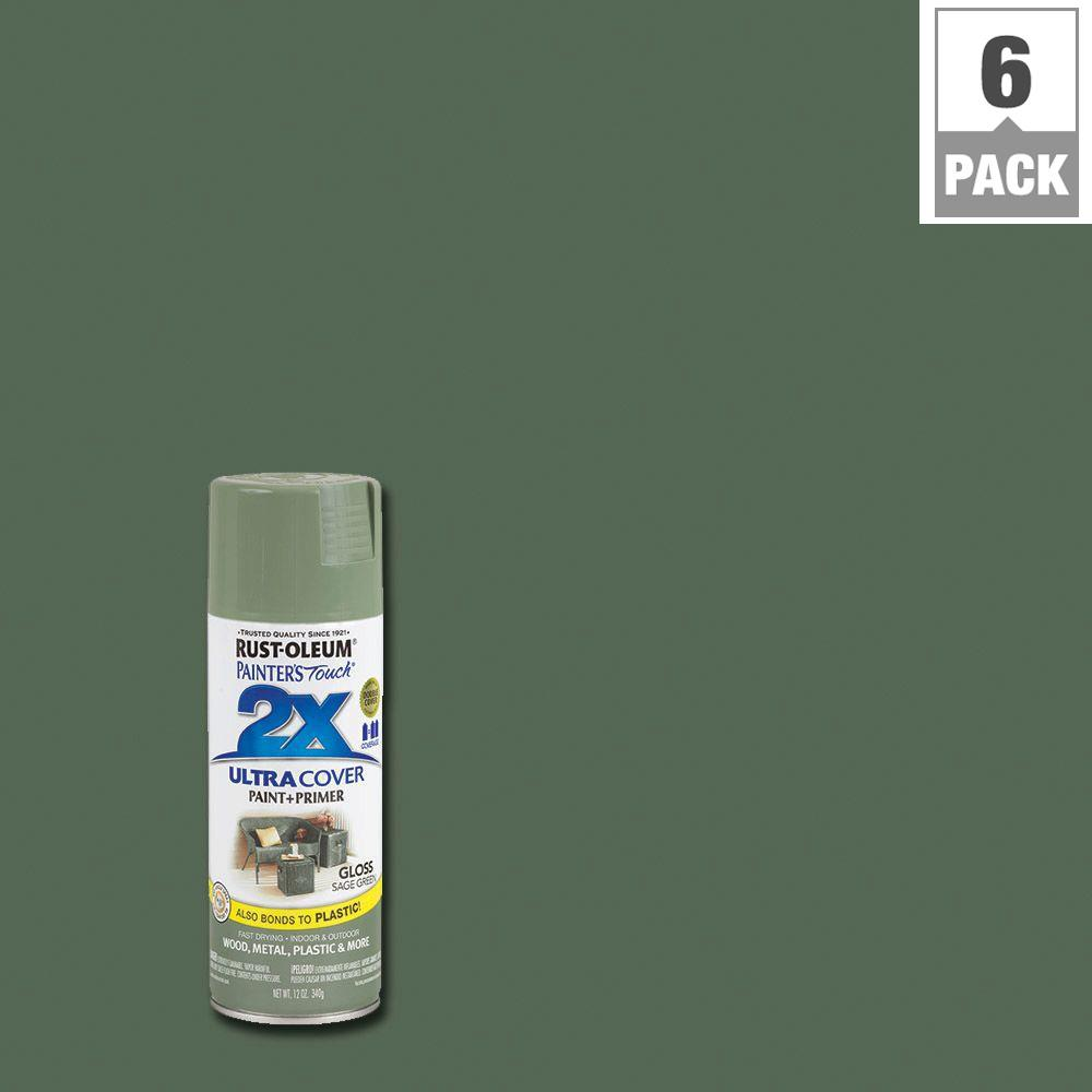 Sage Green Paint Rustoleum Painter's Touch 2X 12 Ozgloss Sage Green General