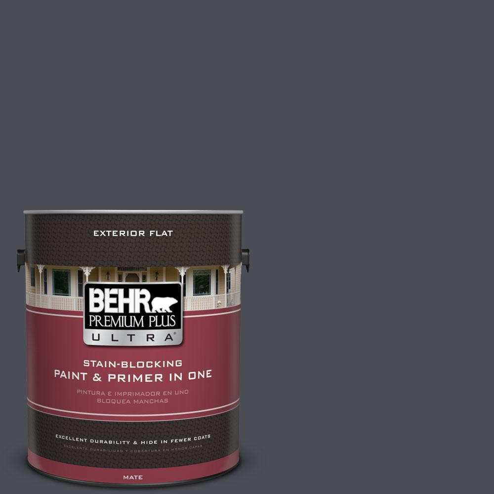 BEHR Premium Plus Ultra 1-gal. #PPU15-20 Poppy Seed Flat Exterior Paint