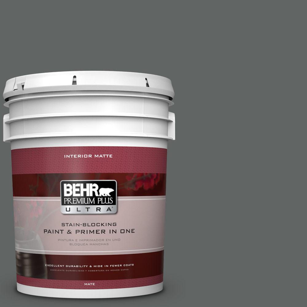 5 gal. #BXC-41 Charcoal Matte Interior Paint