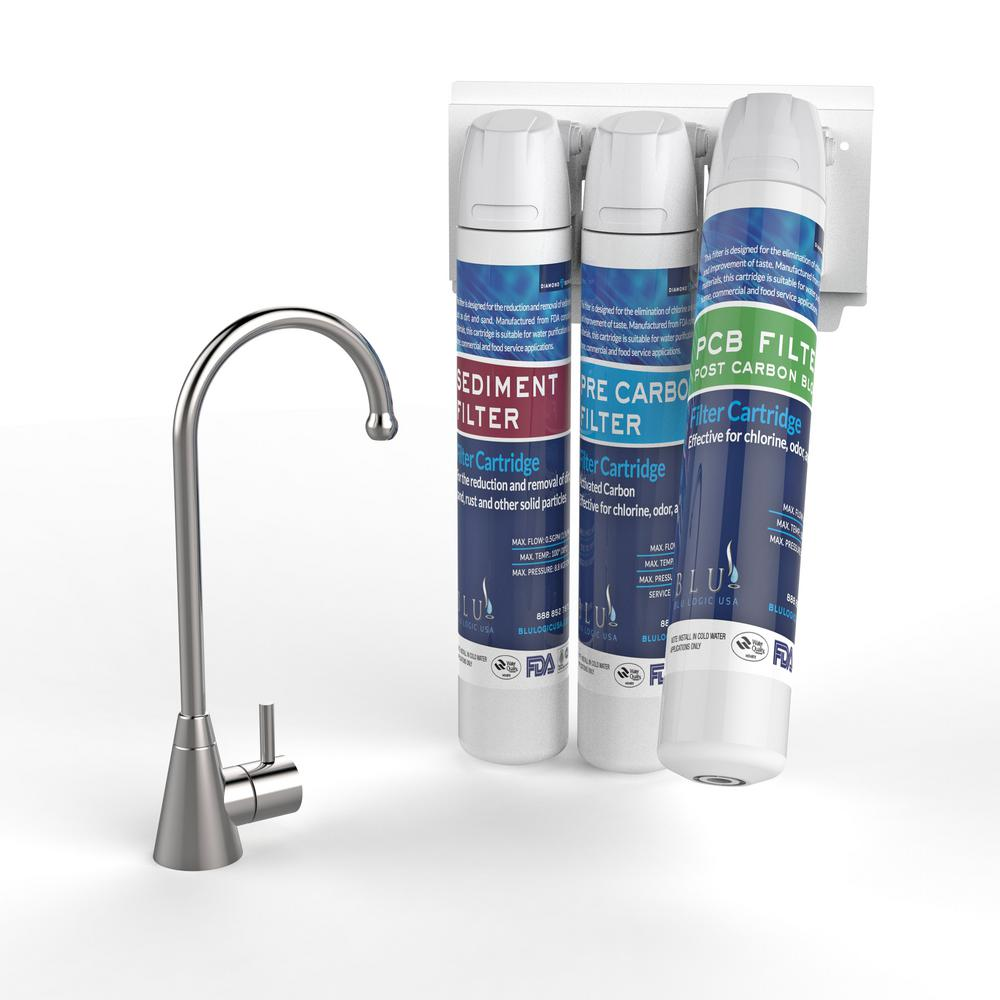 DrinkTop 3-Stage Healthy Under Counter Water Filter System