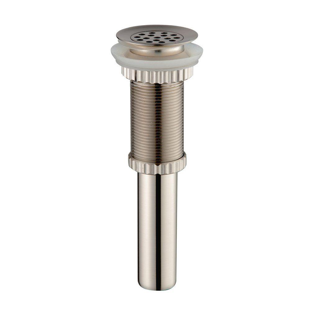 KRAUS Grid Style Drain in Satin Nickel-PU-12SN - The Home Depot