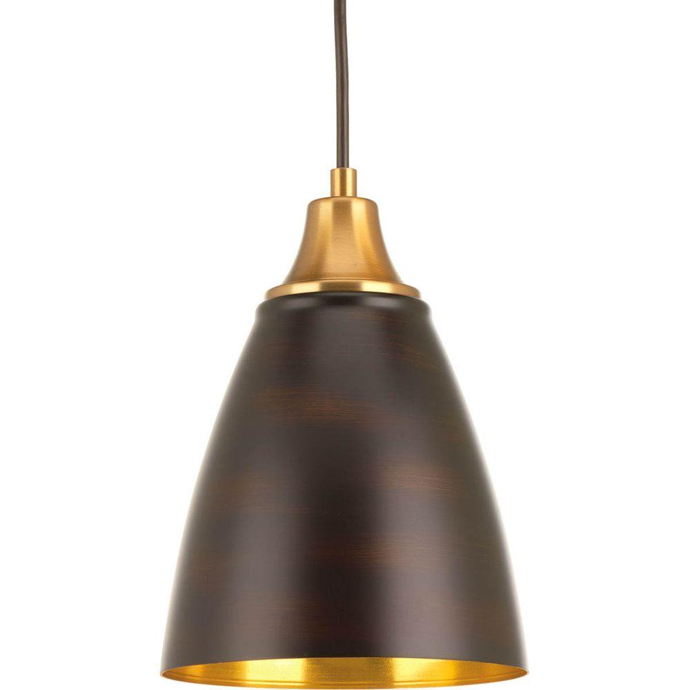 Progress Lighting Pure LED Collection 1 Light Antique Bronze LED Cord Hung Mi