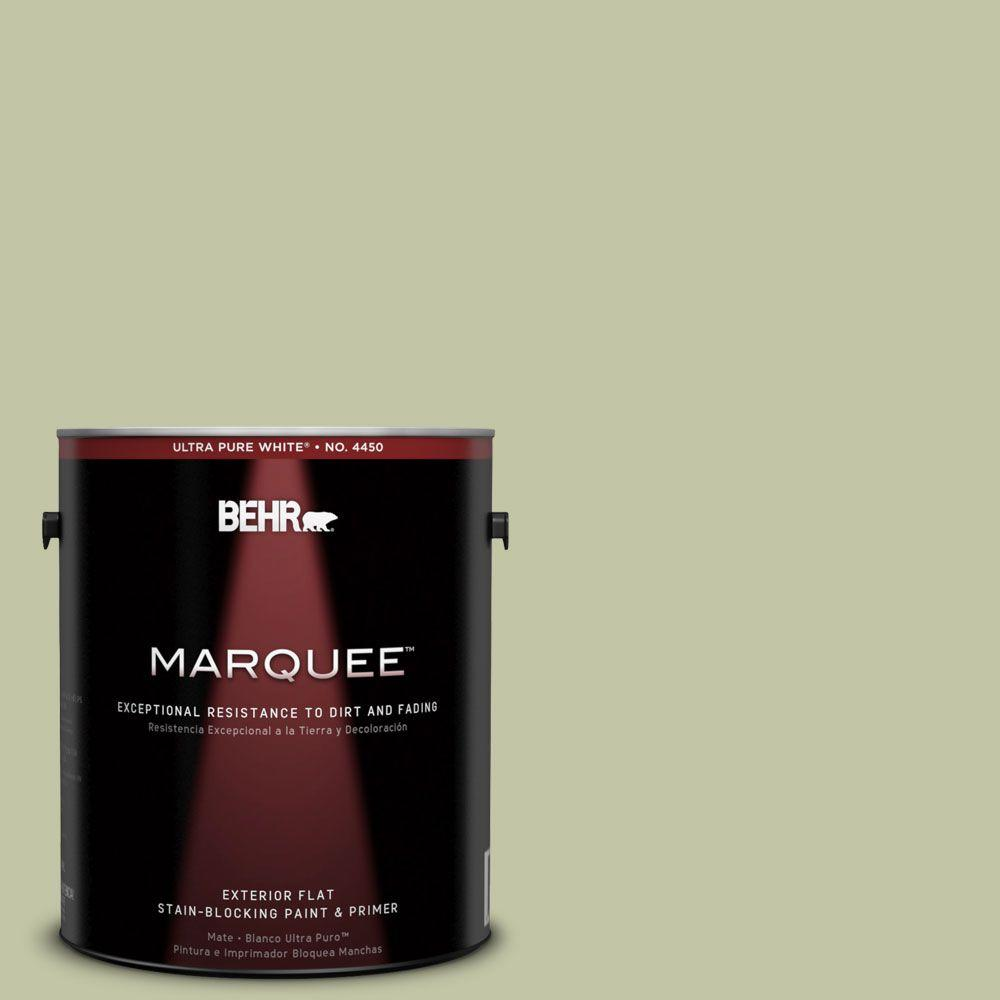 BEHR MARQUEE 1-gal. #410E-3 Rejuvenate Flat Exterior Paint-445401 - The Home