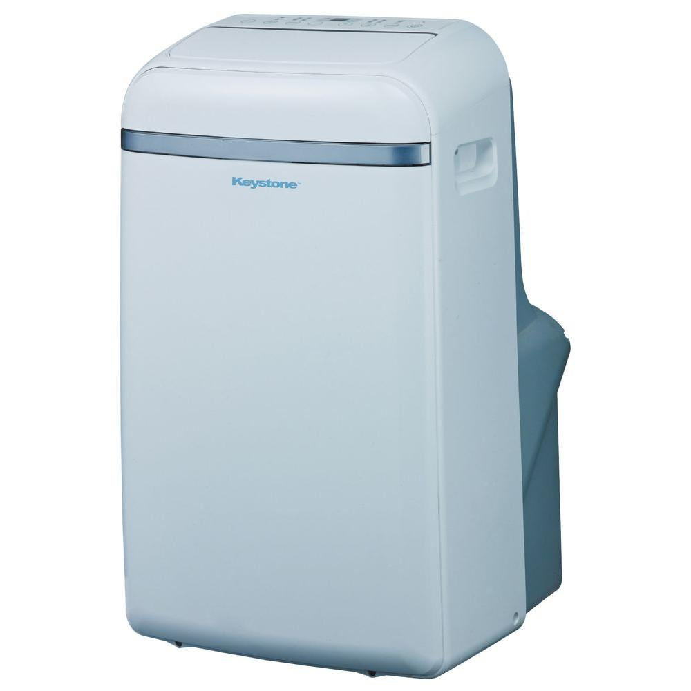 12,000 BTU 115-Volt Portable Air Conditioner with Follow Me LCD Remote